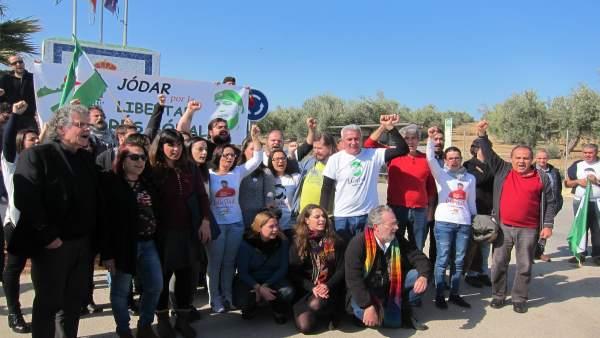 Acto en apoyo de Andrés Bódalo con diputados y parlamentarios andaluces.