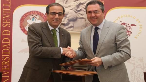 La US y Emasesa firman un convenio para crear la Cátedra del agua