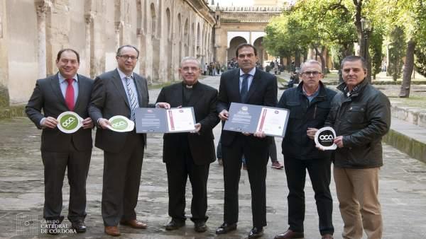 Responsables del Cabildo y de las certificadoras ante la Mezquita-Catedral