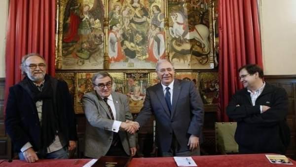 Xavier Rodamilans, Àngel Ros, Roberto Fernández y Carles Alsinet