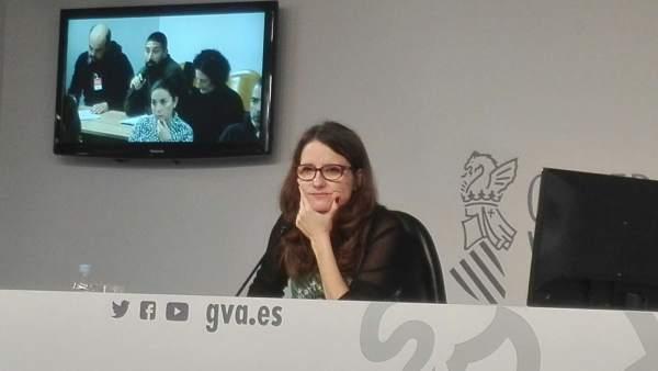 """Oltra espera que els diners """"saquejats"""" tornen als valencians encara que no s'haja condemnat als exalts càrrecs"""