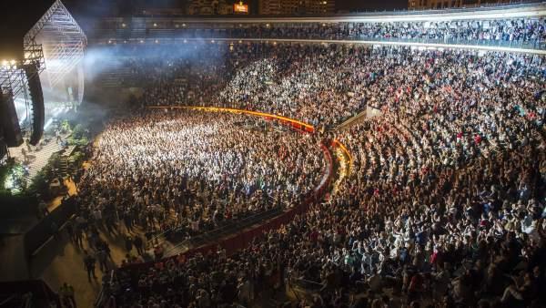 El 'pressing catch' s'unix a les gires de Joaquín Sabina, David Bisbal i Ricky Martin en la Plaça de Bous de València