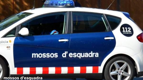 Un coche patrulla de Mossos