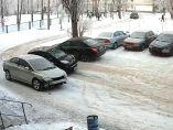 El peor sitio para aparcar en un día nevado