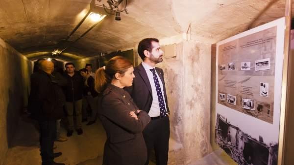 El alcalde visita los Refugios de la Guerra Civil