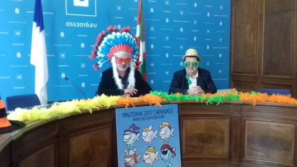 Presentación del Carnaval donostiarra.