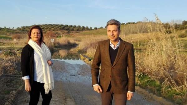 Moyano y Lorite en el Camino del Gorrión a los Baños