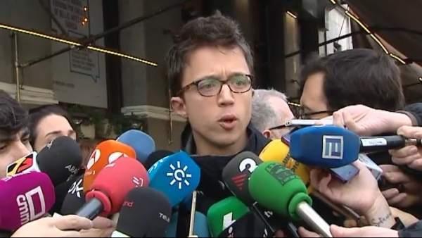 """Errejón, sobre Montero como nueva portavoz: """"Mucha suerte"""""""