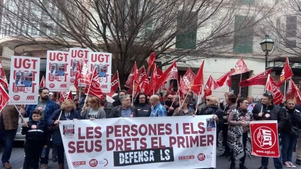 Manifestación UGT y CCOO