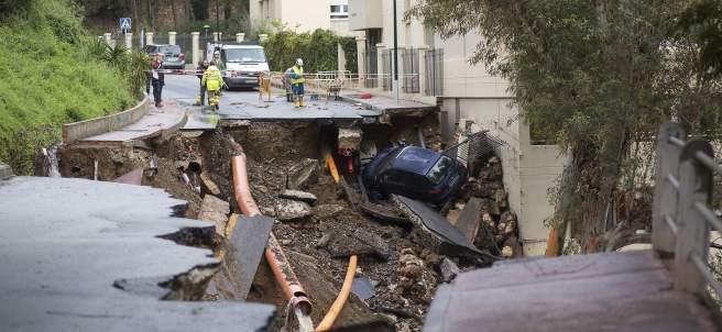 Tromba de agua en Málaga
