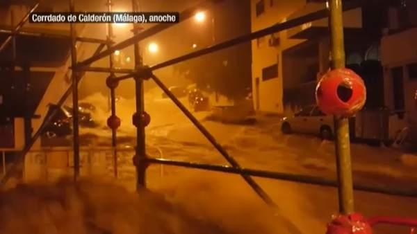 Así se vivió la tromba de agua en Málaga
