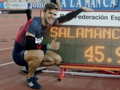 Husillos bate el récord de España de 400 metros en Salamanca