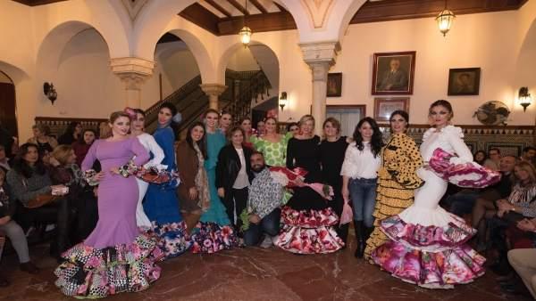 Diseñadores andaluces en el Círculo Mercantil de Sevilla contra el cáncer