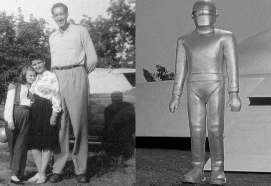 Lock Martin / Gort ('Ultimátum a la Tierra', 1951). Hollywood supo sacar provecho de los 2 metros y 31 centímetros de Lock Martin (1916-1959). Fue portero de cine del mítico Teatro Chino Gauman de Los Angeles y el inquietante androide Grot de 'Ultimátum a la Tierra' (151).