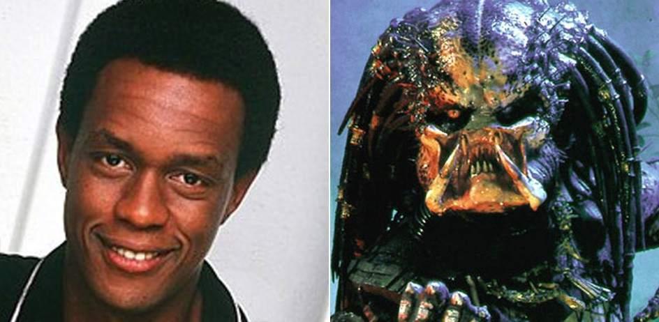 Kevin Peter Hall / Predator (1987 - 1991). Kevin Peter Hall, de 2 metros y 20 centímetros, fue el hombre tras el disfraz de Predator en las dos primeras películas. También se caracterizó como el bigfoot de 'Harry y los Henderson? (1987) y de la posterior serie televisiva.