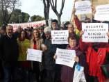 La edil de Participa Sevilla, Cristina Honorato, en defensa de las pensiones