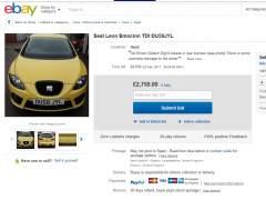 Anuncio de un coche en eBay