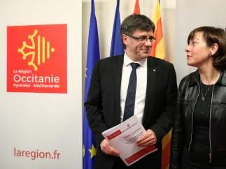 Carles Puigdemont y Carole Delga.