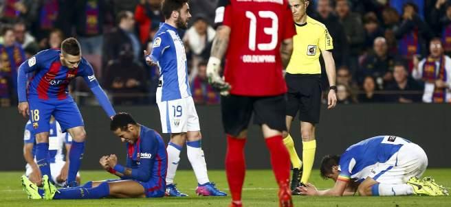 Penalti a Neymar en el Barça - Leganés