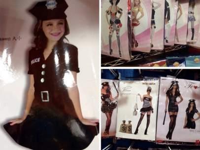 Disfraz de policía para niñas