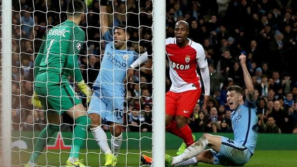 Partido loco en Manchester y gran remontada del City de Guardiola ante el Mónaco