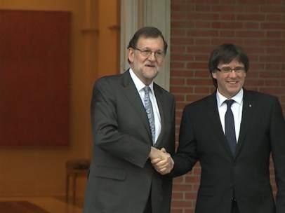 Rajoy no niega su reunión con Puigdemont.