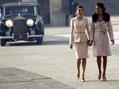Letizia y Juliana, duelo de estilos en la visita del presidente argentino