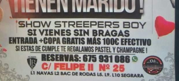 El cartel del Bailódromo Caña Dulce.