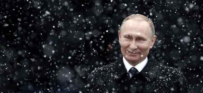 Putin bajo la nieve