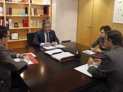 Reunión sobre la violencia de género en la sede del Ministerio de Sanidad.