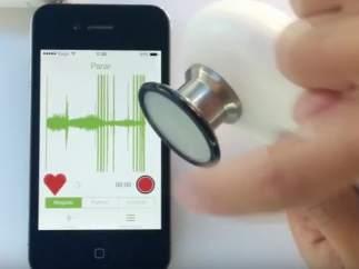 El corazón a través de la pantalla del móvil
