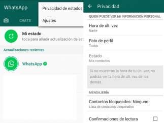 Configuración de Whatsapp Status