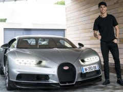 Cristiano Ronaldo prueba su futuro Bugatti Chiron de 1.500 CV
