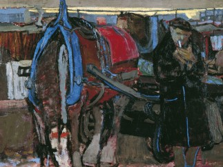 A Carter and his Horse by Joan Eardley