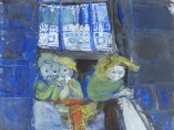 Three Children at a Tenement Window, c.1961 by Joan Eardley
