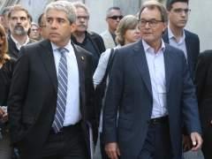 El Tribunal de Cuentas admite una denuncia contra Mas y Homs por los pagos del 9-N