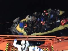 Rescatan a 208 personas en seis pateras en la costa andaluza