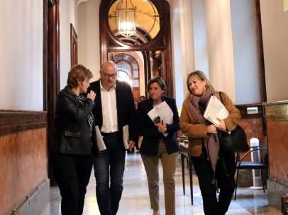 Forcadell y los miembros de la Mesa del Parlament de JxSí.