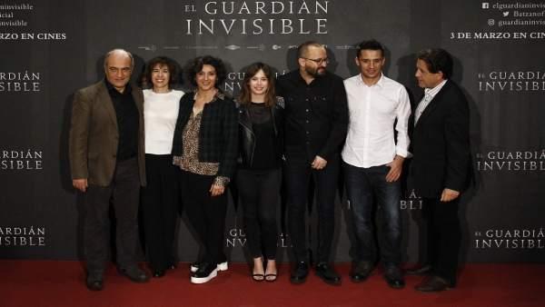 Marta Etura en la presentación de la película El guardián invisible