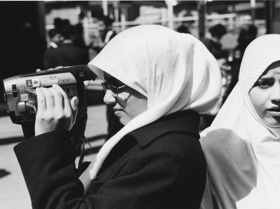 Mel Rosenthal - Arab Americans girls with a video camera