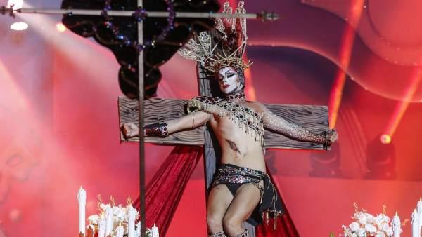 Drag Sethlas, en el carnaval de Las Palmas