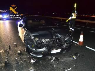 Vehículo implicado en accidente que resultó positivo por alcoholemia