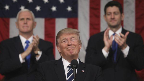 La sonrisa de Trump en el Congreso de EE UU