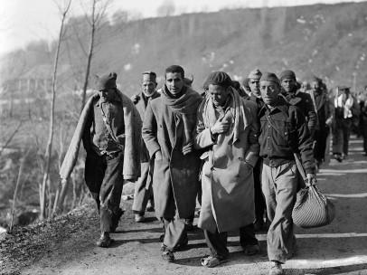 Republicanos huyendo, febrero, 1939
