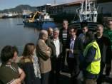 Acto de comienzo del dragado del puerto de Colindres