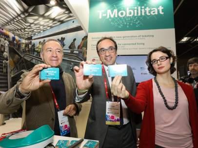 A.Poveda (AMB), el conseller J.Rull y la concejal de Barcelona M.Vidal