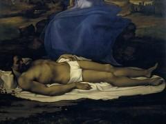 Sebastiano del Piombo, after partial designs by Michelangelo - Lamentation over the Dead Christ (Pietà), about 1512-16
