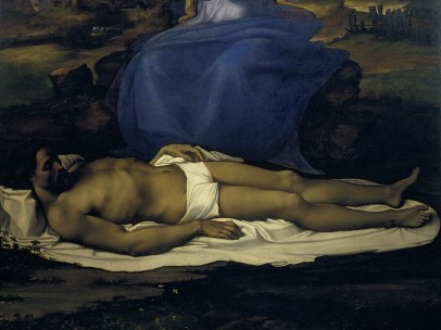 Sebastiano del Piombo, after partial designs by Michelangelo - Lamentation over the Dead Christ (Pietà), about 1512-16