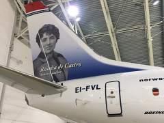 Norwegian homenajea a la novelista Rosalía de Castro