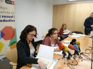 La concejal Laura Pérez y la comisionada de Salud, Gemma Tarafa